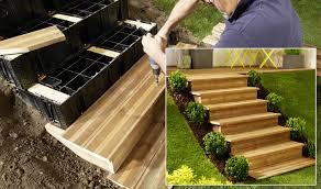 comment créer un escalier dans un jardin – Maison à rénover